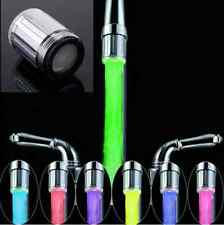 LED Water Faucet Stream Light 7 Colors Changing Shower Tap Kitchen Tap