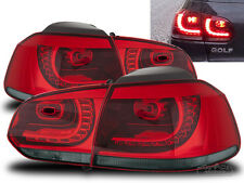 Auco LED FAROS TRASEROS set GTI R look rojo Smoke adecuado para VW Golf 6 VI