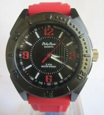 PHILIP PERSIO WATER PROOF QUARTZ RED MEN WATCH