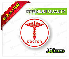 XTREME-in DOCTOR LOGO REFLECTIVE STICKER FOR CAR, BIKE, DOOR,GLOSS (4 inch)