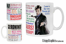 DR WHO MUG - MATT SMITH - 11th Doctor Quotes