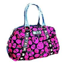 B51 Betseyville Hot Pink Skull Stud large Punk Rock Goth Shoulder Travel Gym Bag