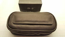 Judd's NEW Arango Cigar Co. Black Leather 2 Pipe Case w/Removable Tobacco Pouch