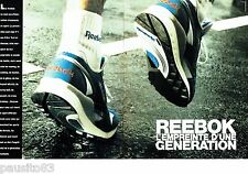 PUBLICITE ADVERTISING 116  1989   Reebok  (2p)   chaussures de sport baskets