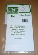 "Evergreen Styrene Sheet Plastic Assortment .010 .020 .040 12"" x 6"" White Plain"