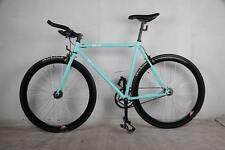 BEAUTIFUL TURQUOISE URBAN ROAD BIKE W/ BULL BARS FLIP FLOP HUB 54CM THICKSLICKS
