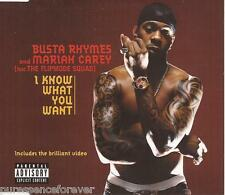 BUSTA RHYMES & MARIAH CAREY - I Know What You Want (UK 4 Trk Enh CD Single)