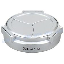 JJC Self Retaining Auto Open & Close Lens Cap for LEICA X1 & X2 Camera SILVER