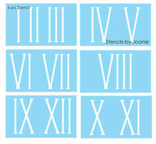 "Roman Numeral STENCIL 5"" Skinny Number Clock Shabby Cottage Vintage Address Home"