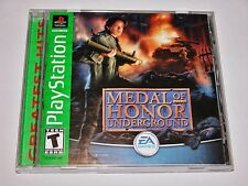 Medal of Honor Underground Complete for PlayStation 1 PS1 PS2 2 CIB **TESTED**