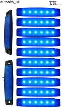 10 pcs Blue 12V 6 LED Side Marker Indicators Lights Truck Trailer Bus