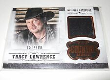 2014 Panini Country Music TRACY LAWRENCE RELIC SWATCH Trading Card #M-TL 151/499