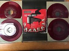 """First Piano Quartet Encores 3 x 7"""" red vinyl 45rpm WDM-1263 + Gypsy Airs Red wax"""