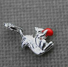 STERLING SILVER FINISH SQUIRREL CLIP ON CHARM