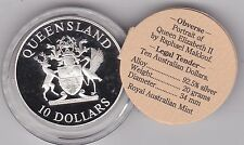 BOXED 1989 AUSTRALIA QUEENSLAND SILVER PROOF 10 DOLLARS