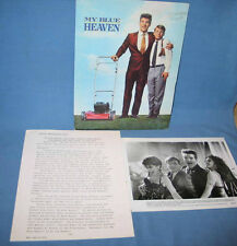 "Warner Bros ""My Blue Heaven"" Pressbook Production Notes & 4 Photos FREE SHIP"