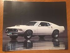 Tin Sign Vintage Metal 69 Ford Mustang Boss 429 White