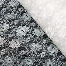 White Budget Flower Lace Fabric *Per Metre