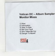 (GO715) Vatican DC, 6 track album sampler (Monitor mixes) - DJ CD