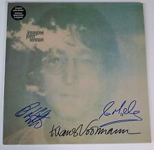 """JOHN LENNON BAND Signed Autograph """"Imagine"""" Album LP by 3   The Beatles Related"""