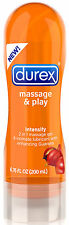 Durex Massage and Play Intensify - 2 in 1 Lubricant - Guarana - 6.7oz Lube