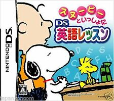 Used DS Snoopy to Issho ni DS Eigo Lesson NINTENDO JAPANESE IMPORT