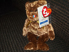 TY Beanie Baby Fifa World Cup 2002 Champion France Flag Nose Rare!
