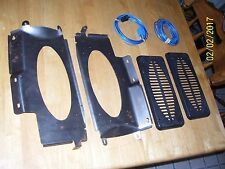 NOS 73-87 Chevy Truck Factory Speaker Brackets and covers Rear Cab Behind Seat