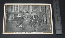 CHROMO PHOTO 1900-1910 AUX 2 PASSAGES LYON THEATRE COLINETTE YAHNE DAUMERI