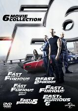 FAST AND THE FURIOUS COMPLETE BOXSET DVD COLLECTION 1 2 3 4 5 6 ALL MOVIE FILMS