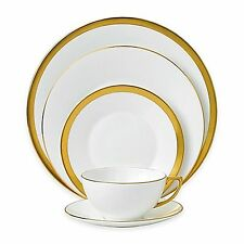 Waterford Fine Bone China, Wedgwood Jasper Conran 5 Piece 22k Gold Place Setting