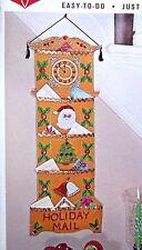 Bucilla~JEWELED CHRISTMAS~Greeting Card Holder Felt Vintage Kit 8041 Sterilized