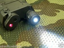 Black PEQ-15 Illuminator Torch White LED w/ Red Laser Sight for 20mm Rail (54)