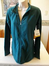 Women's Missy Everlast Fleece Jacket Full Zip Teal Green X-LARGE NEW