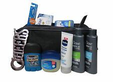 10 Piece Dove Hair & Body Travel Toiletry Gift Kit For Men + Overnight Dopp Bag