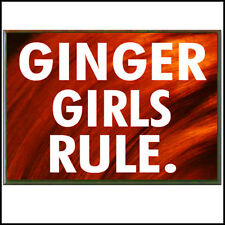 Fridge Fun Refrigerator Magnet GINGER GIRLS RULE Version B Redhead