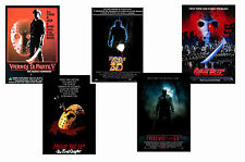 FRIDAY THE 13TH  FILMS - SET OF 5 - A4 FILM POSTER PRINTS # 1