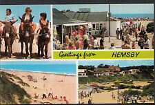 Norfolk Postcard - Greetings From Hemsby   DR382