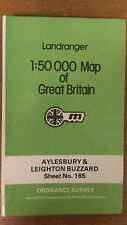 Aylesbury + Leighton Buzzard: Ordnance Survey Landranger Map 1:50000 #165 (M11)