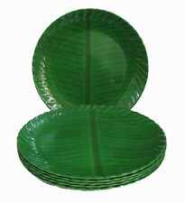Melamine Dinner Full Plates Set of 6  - Traditional Banana Leaf Design