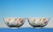 A Pair Of Amazing Rare Antique Chinese Hand Painting Porcelain Bowl Mark GuangXu