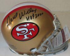49ers Hall of Famer DAVE WILCOX Signed Mini Helmet  AUTO w/ HOF '00 -  JSA!!