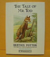 THE TALE OF MR. TOD BEATRIX POTTER ORIGINAL AUTHORIZED EDITION F.WARNE & CO. NEW