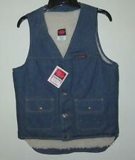 Vintage 1980's BIG BEN Shearling Lined Denim Work Vest Size S