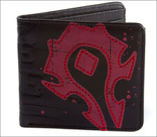 Official World of Warcraft Horde Crest Leather Bi-fold Bifold Men's Boy's Wallet