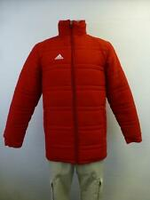 mens Adidas Red Football long thick puffer Stadium winter Coat sz XS Extra Small
