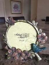 Lovely  Picture Frame Fall Bird & Flowers 3x3