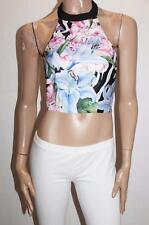 MOOLOOLA Brand Tropical Floral Halter Top Size 8-XS NEW #SE44
