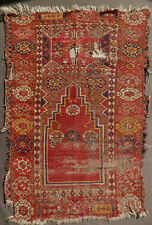 1800-1850. EARLY ANTIQUE ANATOLIAN CAPPADOCIA PRAYER RUG. BEAUTIFUL OLD SPECIMEN