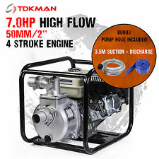 "New 2 Inch 2"" Petrol High Flow Water Transfer Pump Hose Fire Fighting Irrigation"